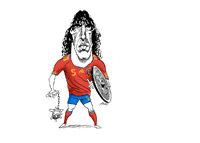Carles Puyol Caricature
