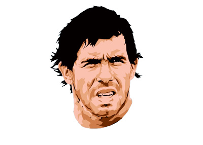 Carlos Tevez - Football Player - Illustration - Trace