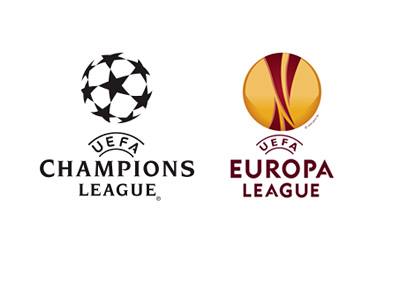 UEFA Champions League and UEFA Europa League - Tournament Logos