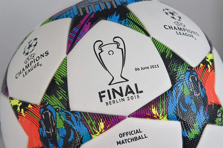 Official matchball for the 2014/15 UEFA Champions League final - Berlin