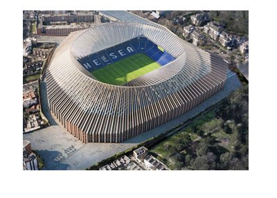 The New Stamford Bridge.  The approved concept / drawing / design.