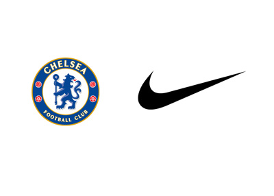 Chelsea FC and sports manufacturer Nike - Logos - Partnership - Agreement / Deal
