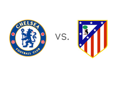 UEFA Champions League Semi-Final Matchup - Chelsea vs. Atletico Madrid - Team Logos / Badges / Crests