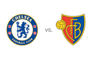 UEFA Champions League (UCL) Matchup - Chelsea FC vs. Basel FC - Team Crests