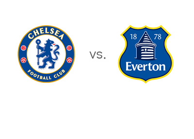 English Premier League Matchup - Chelsea FC vs. Everton FC - Team Logos