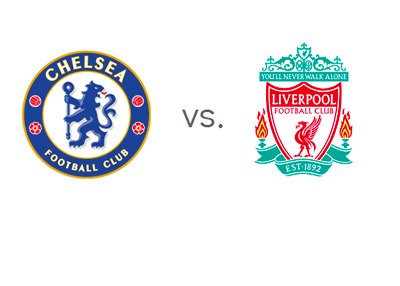 English Premier League Matchup - Chelsea (the Blues) vs. Liverpool (the Reds) - Team Logos