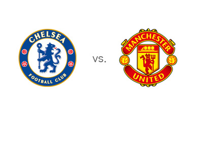 Chelsea FC vs. Manchester United - Team Logos - Matchup