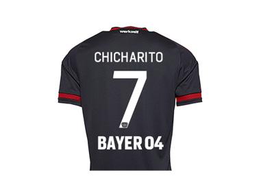 Javier Hernandez aka Chicharito Bayer Leverkusen jersey 2015/16 season - Back side