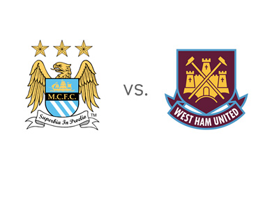EPL Matchup - Manchester City vs. West Ham United - Team Logos / Crests / Badges
