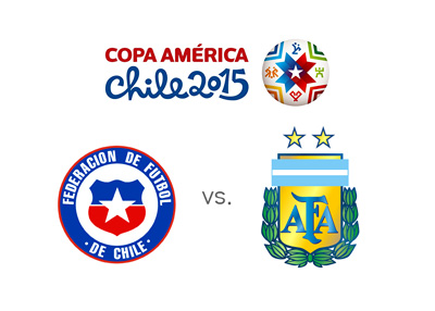 Preview and Odds - Chile vs. Argentina - Copa America 2015 - Tournament logo and national team crests - Matchup