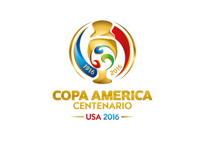 The tournament logo - Copa America 2016 - Centenario edition