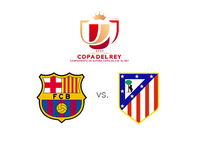 Spanish Cup - Copa del Rey - Matchup - Barcelona vs. Atletico Madrid - Preview - Team Logos / Badges / Crests - Face Off