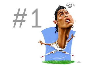 Cristiano Ronaldo Caricature by Superlukasz