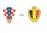 Croatia vs. Belgium - Football Association Crests - Matchup - FIFA Qualifiers