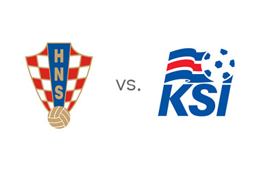 Croatia vs. Iceland - Matchup and Team Logos