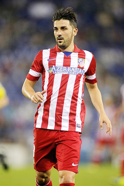 David Villa in the Atletico Madrid jersey - 2014/14 season