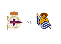 Deportivo la Coruna vs. Real Sociedad - Matchup and team logos