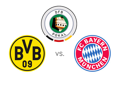 The DFB Pokal (German Cup) - Borussia Dortmund vs. Bayern Munich - Tournament and Team Logos / Badges