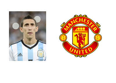 Angel Di Maria - Argentina - Manchester United - Logo - Transfer