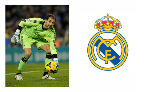 Diego Lopez on Goal for Real Madrid - La Liga - Photo