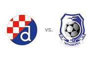 UEFA Europa League matchup - Dinamo Zagreb vs. Chornomorets Odesa - Team Logos