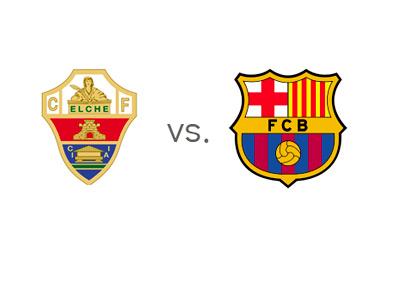 Elche vs. Barcelona - Matchup - Spanish La Liga - Team Logos / Crests