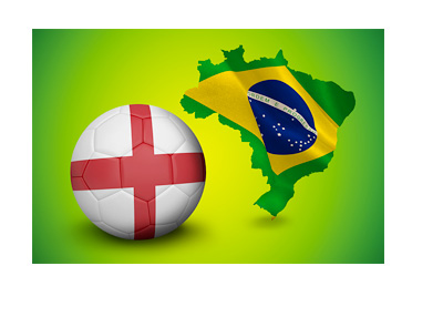 England at the FIFA World Cup 2014 in Brazil - Illustration