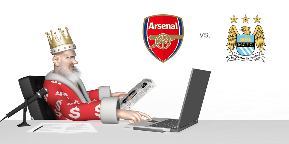 The King presents the EPL matchup between Arsenal and Manchester City - Tips, odds, stats, preview and opinion