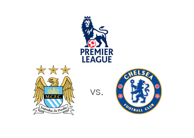 Manchester City vs. Chelsea FC - English Premier League matchup - Preview and odds - Team logos / badges