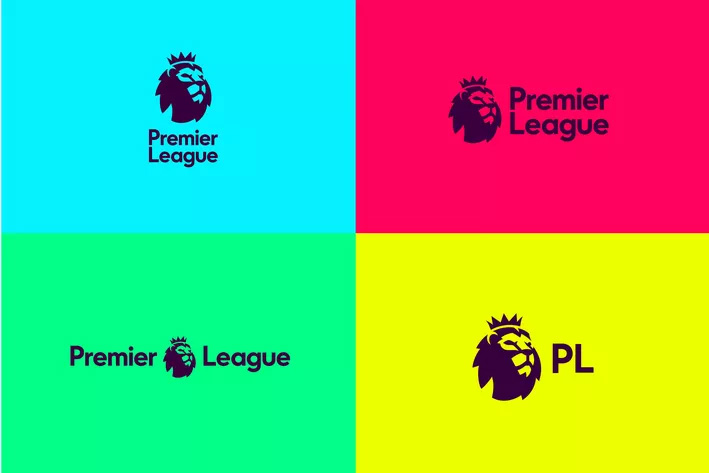 The coloured version of the new English Premier League logo