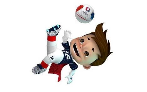 Euro 2016 France Mascot - Cape Boy - Driblou - Goalix - Super Victor - Overhead Kick - 3D