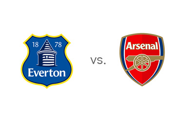 EPL Matchup - Everton vs. Arsenal - Team Jersey Crests / Badges / Logos