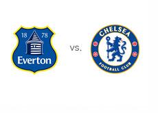 Everton vs. Chelsea - English Premier League - Football Matchup - Team Logos / Crests