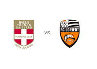 Evian TG FC vs. FC Lorient - Matchup and Team Logos