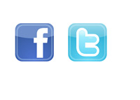 Social Media Networks - Facebook and Twitter - Icons