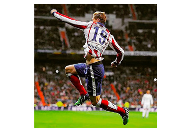 Fernando Torres celebrate after scoring vs. Real Madrid on January 15th, 2015 - Spanish Copa del Rey