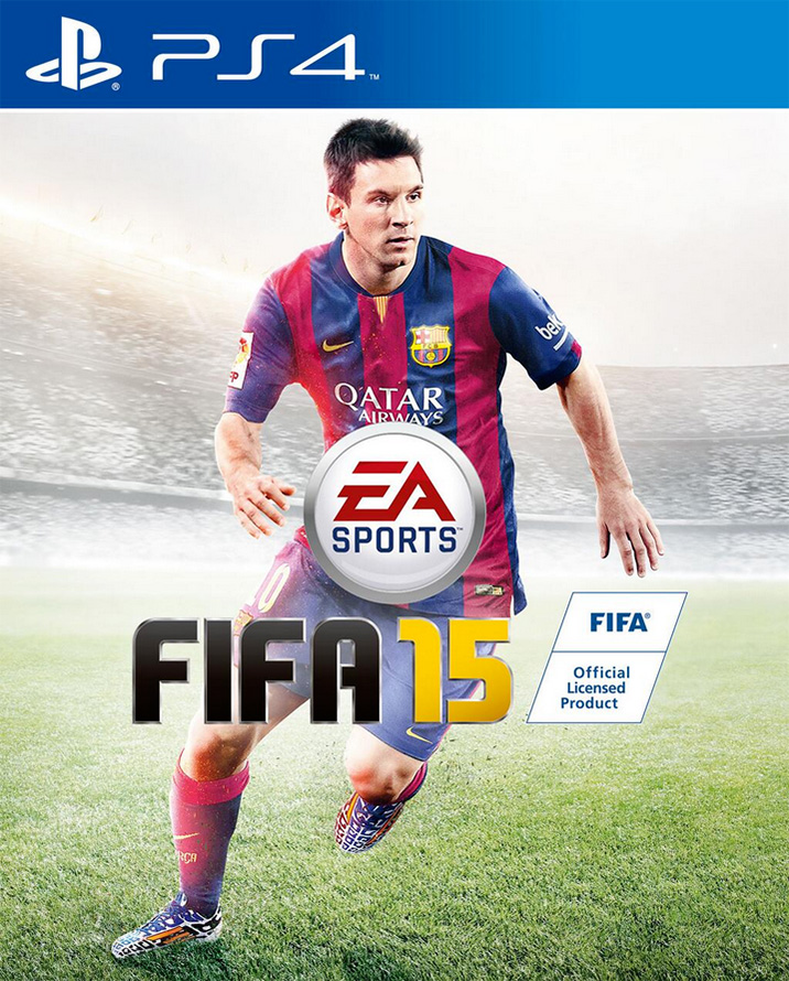 Lionel Messi on the cover of EA Sports FIFA 15 video game international (global) cover - Large size image
