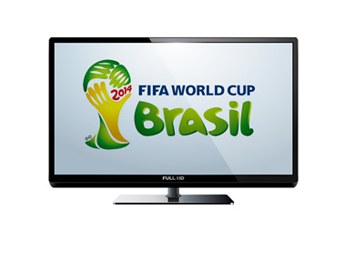 TV Ratings for the 2014 FIFA World Cup in Brazil - Illustration