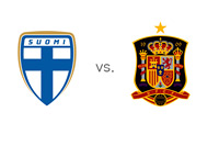 Finland and Spain Matchup - Football Association Crests