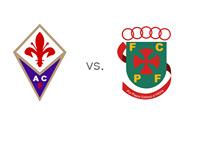 UEFA Europa League (UEL) Matchup - Fiorentina vs. Pacos de Ferreira - Team Logos