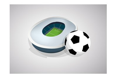 The thumbnail of a Euro football (soccer) stadium simple vector drawing.