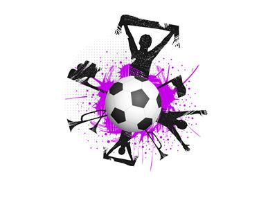 Football Fans in Attendance - Illustration