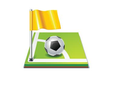 Football Illustration - Corner
