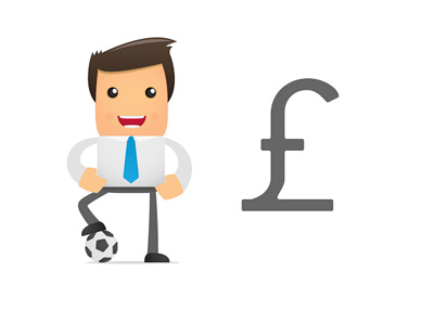 Football Manager Salary - British Pounds - Illustration