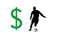 Football Player Salary in Dollars - Illustration