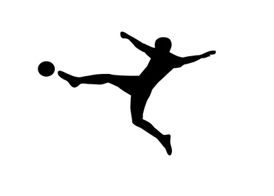 Football Kick - Silhouette