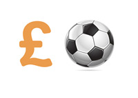 Football Spending - British Pounds - Illustration