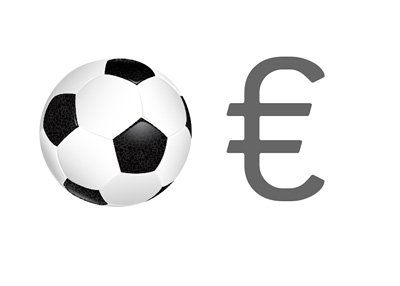2014 Football Spending - Euro Currency - Illustration - Concept