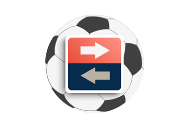 Football Transfer - Illustration / Concept - Arrows over a Ball