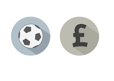 Concept Illustration - Football Transfer Fees - British Pounds - Ball and Currency Symbol